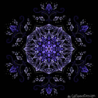 Blue Glass Flower by CatSpaceDesign