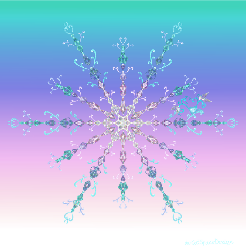 Sunset Crystal Snowflake by CatSpaceDesign