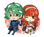Fire Embelm ECHOES - Alm  Celica