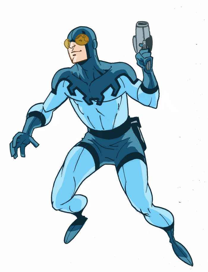 Blue Beetle Doodle by Miketron2000