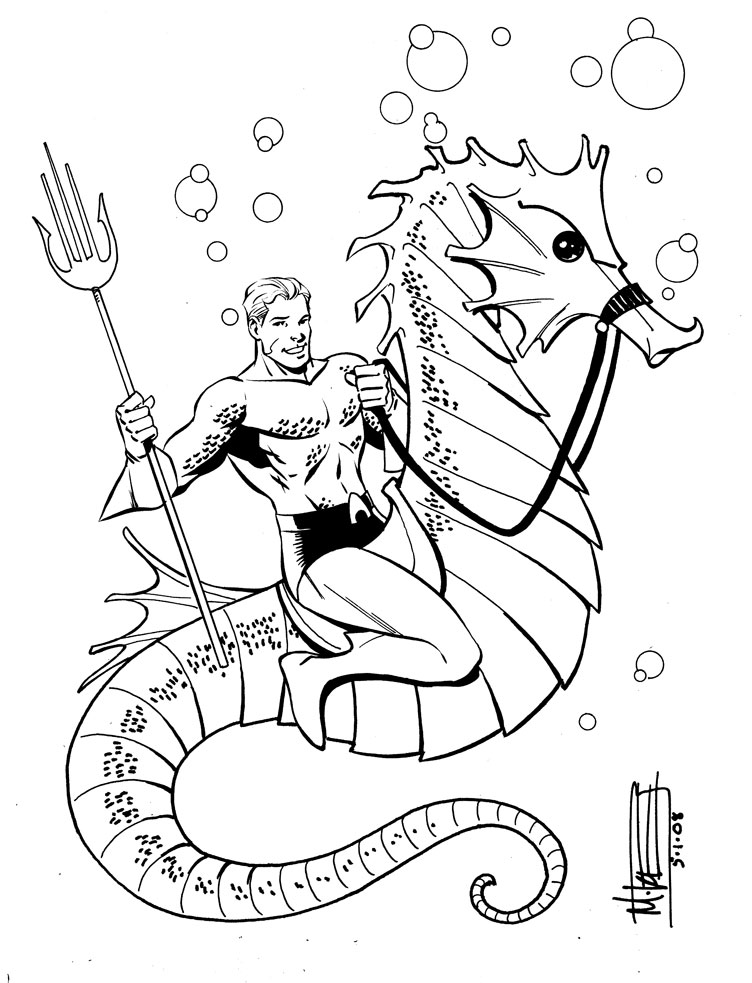 aquaman coloring pages - aquaman by miketron2000 on deviantart
