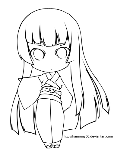 Chibi Lineart : Lovely lines favourites by barbaraluri on deviantart