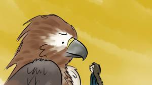 Story and the sad hawk by ChippedBeak