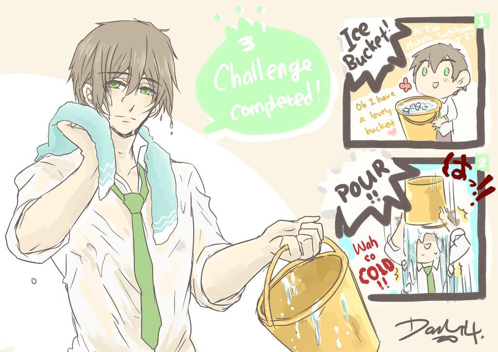 Makoto Tachibana version of Ice Bucket Challenge by darkn2ght