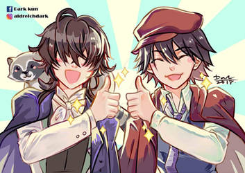 Bungou Stray Dogs Poe and Ranpo
