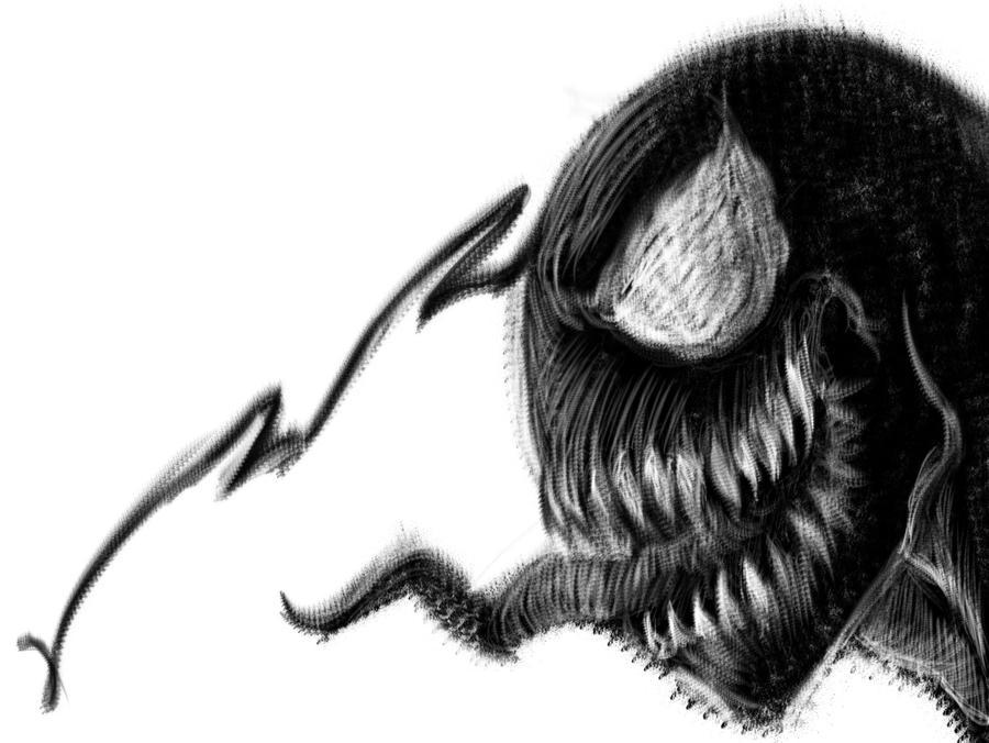 venom dry brush digital by Dreee