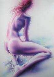 girl on the beach by JSaurer