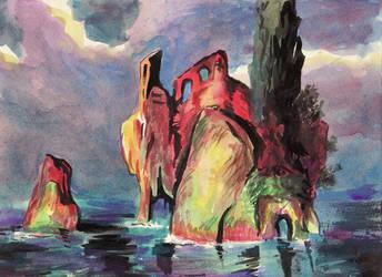 magic rock island by JSaurer