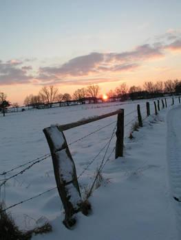 sundown in the winter 3