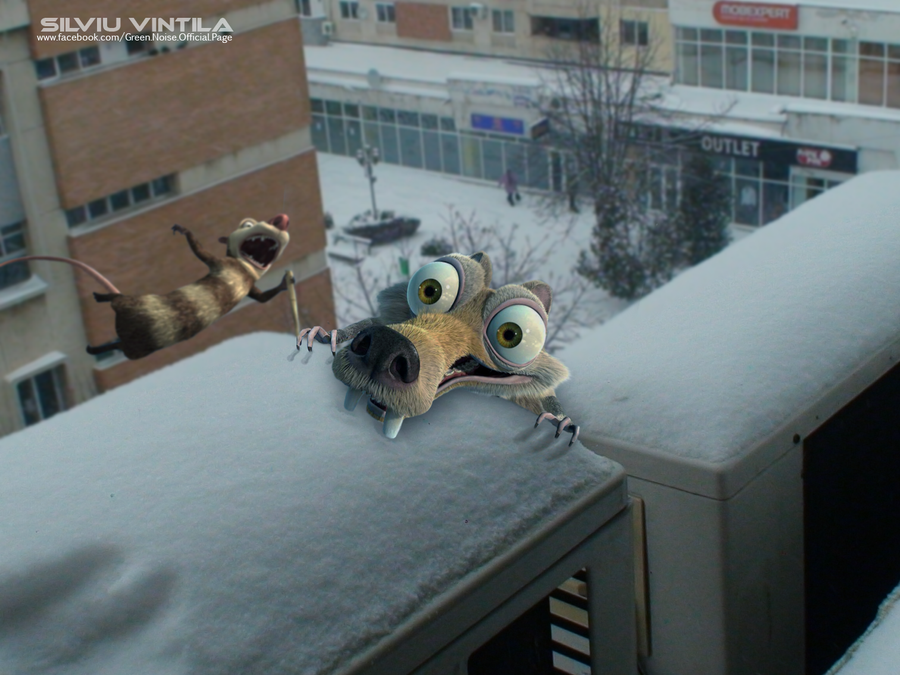 Scrat in Alexandria - Ice Age 2012 by vander90