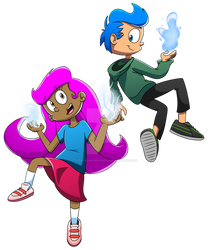 Guppies Reboot Concept Art - Molly and Gil (2018)
