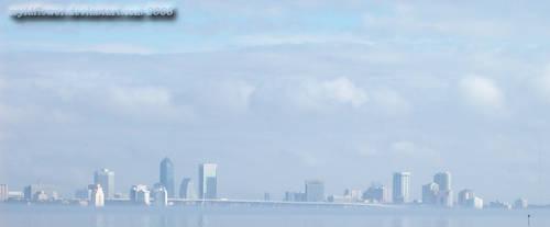 Downtown Jacksonville Skyline by wyldflower