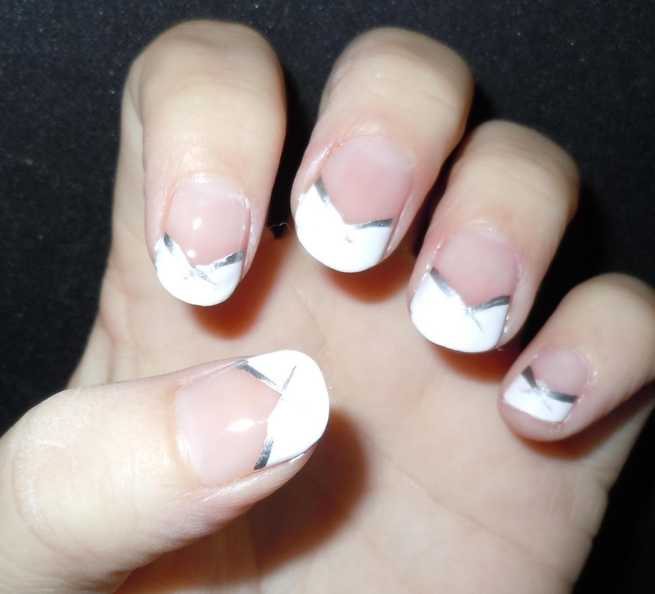 White Line Nail Designs
