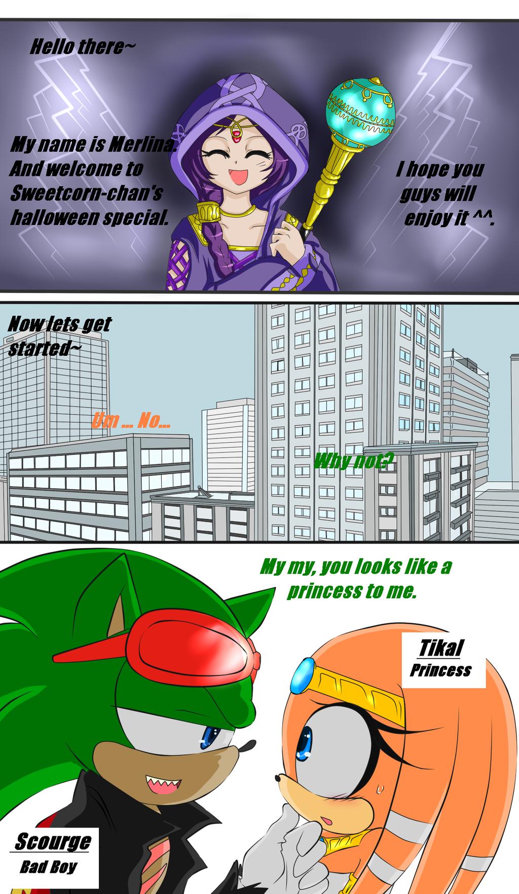 Arbeitsplatz chaos comic  Sonic halloween Curse - 01 by Sweetcorn-chan on DeviantArt