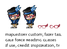 Maplestory Custom: Fairy Tail's Reading Glasses by eucliffe-s