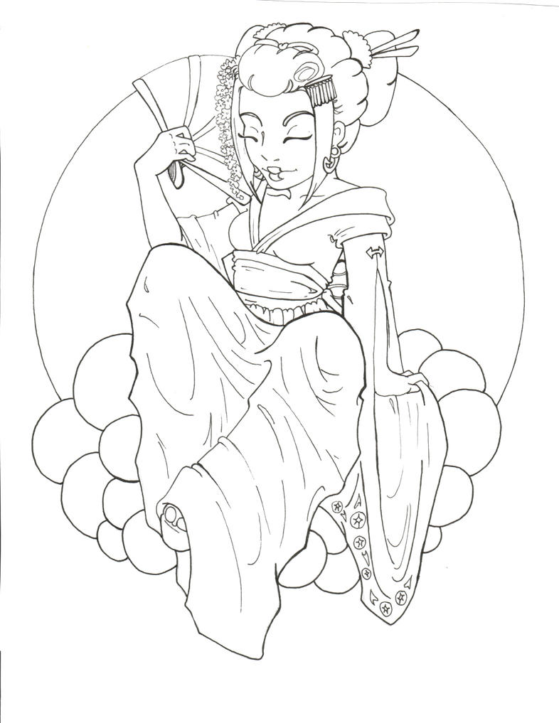 Japanese Geisha Tattoo Drawings