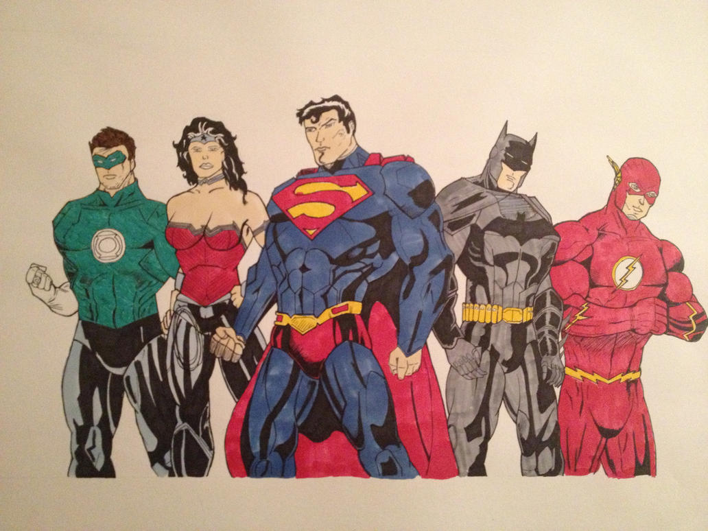 Justice league. by DrawMEGA