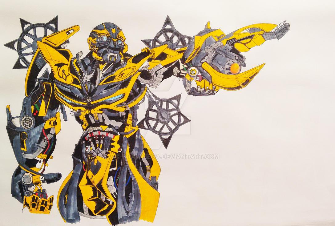 bumblebee transformers 4drawmega on deviantart