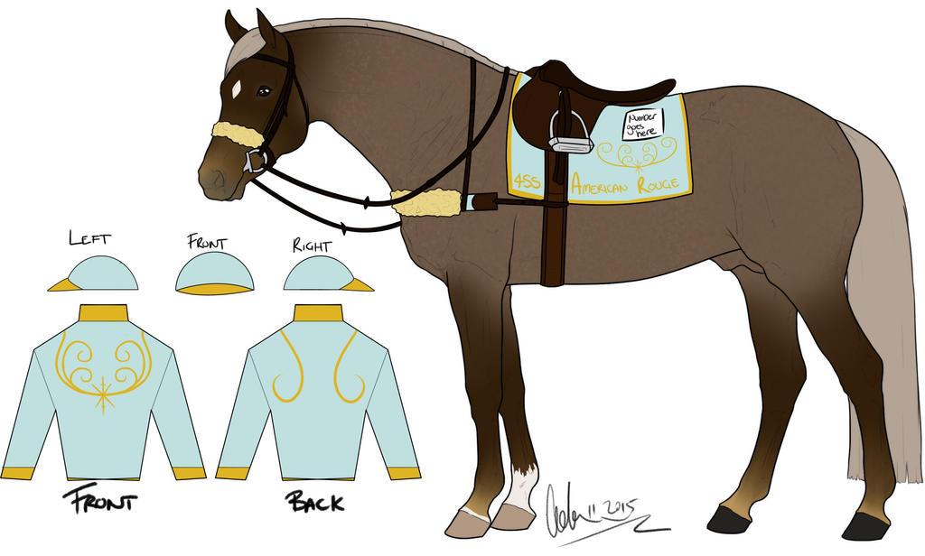 jockey silks template - 4ss american rouge racing tack and silks by