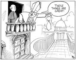 The Pope Has Fun by babylon-sticks