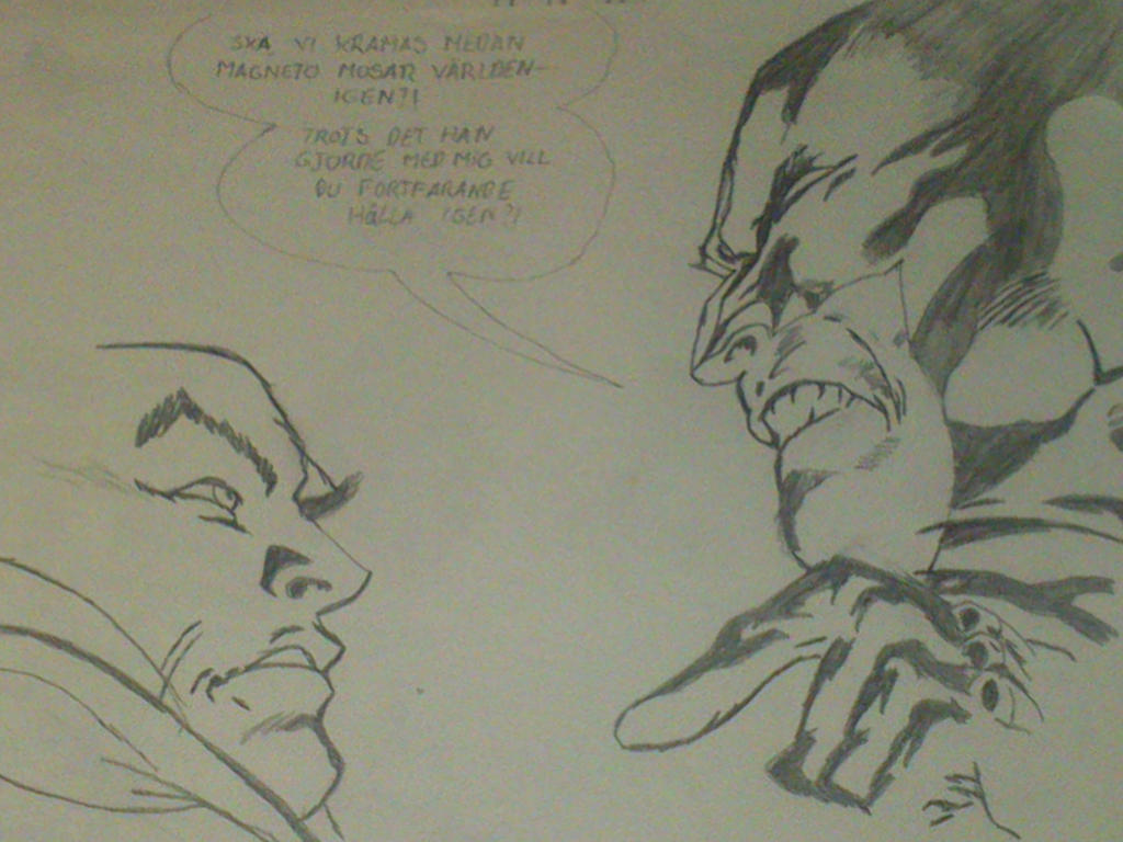 wolverine and Xavier by Vornell