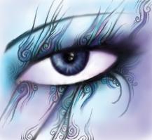 Purple Eye by Ravenbraids