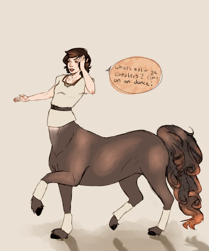 euro the female centaur by marenbox