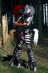 pony and zebra girl