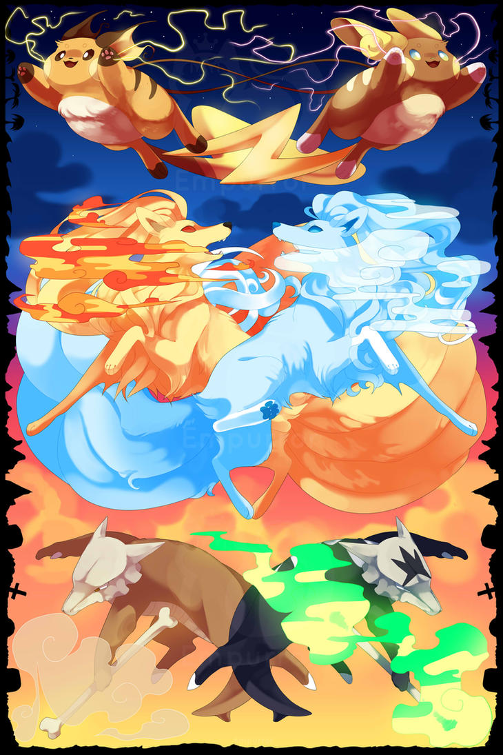 pokemon kantoalola print by empurrormooks