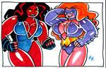 Titania and Red She Hulk