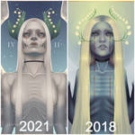 [Redraw: Now vs Then] Tearful Angel by IrisSeptim