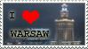 I love Warsaw STAMP