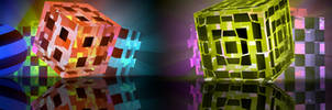 Cubes with Volumetric Light and Transparent Cubes