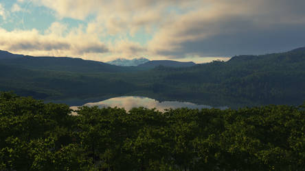 First Scene with Terragen 3