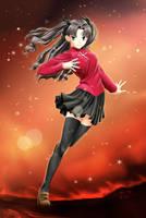 Fate-stay night - Rin by ame-natsuno