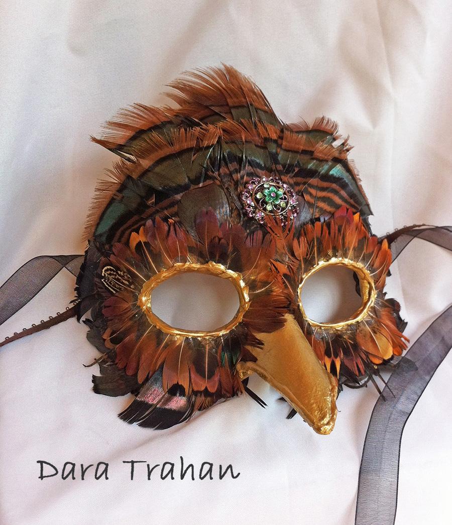 Bird Masquerade Mask by Dara Trahan by DaraGallery