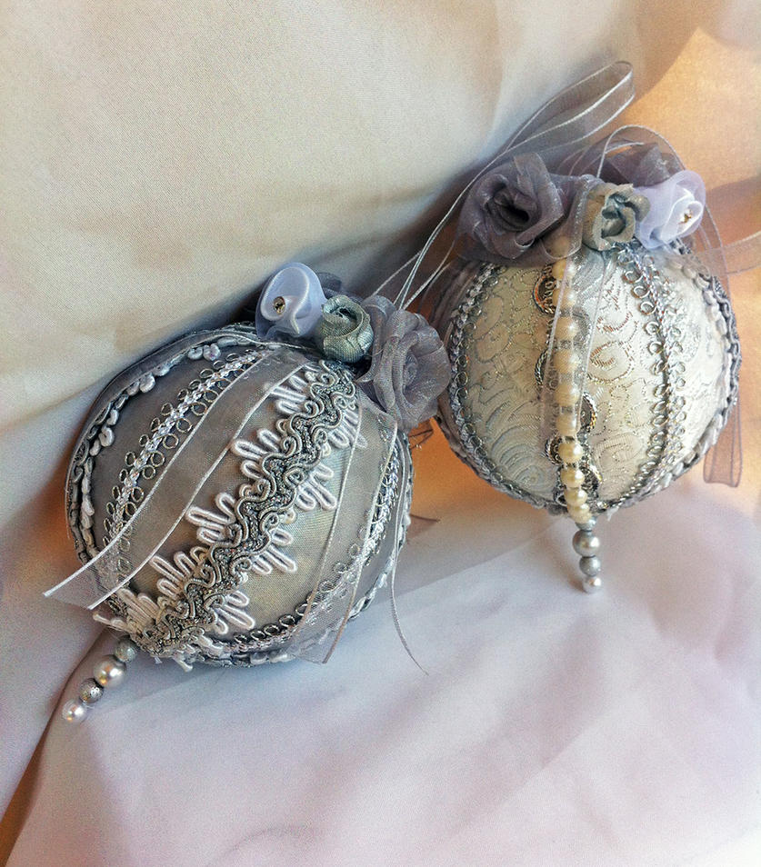 Silver Victorian Ornaments by DaraGallery