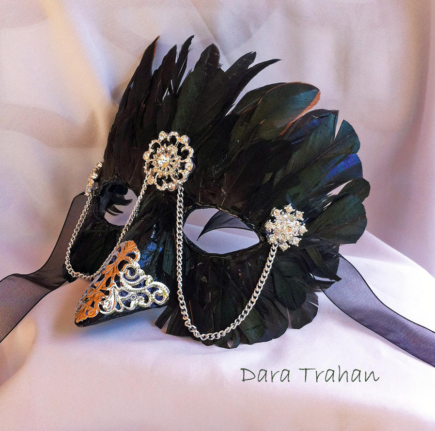 Raven Masquerade Mask by DaraGallery ... & Raven Masquerade Mask by DaraGallery on DeviantArt