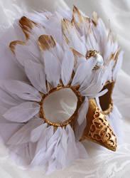 Handmade Snowy Owl Masquerade Mask by DaraGallery