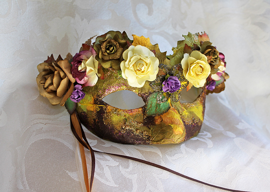 Early Autumn Mulberry Flower Mask by DaraGallery