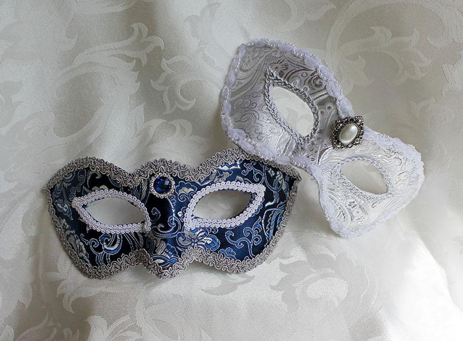 Curvy Brocade Masquerade Masks by DaraGallery