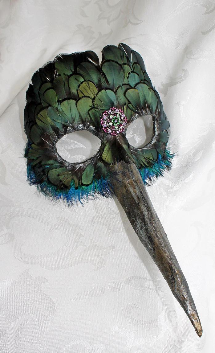 Handmade Hummingbird Mask by DaraGallery