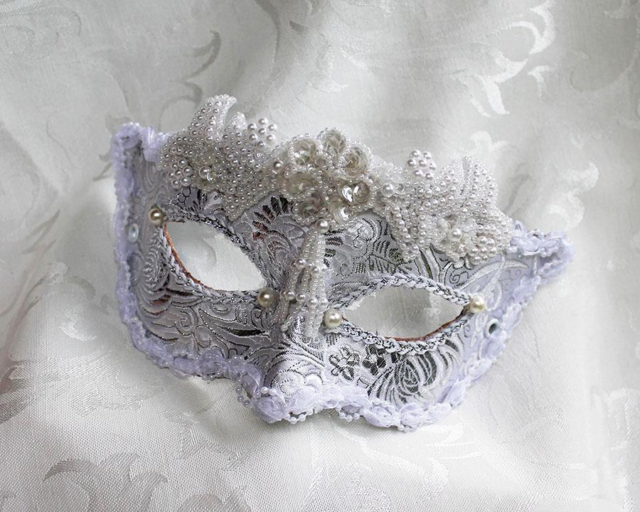 Brocade Bridal Masquerade Ball Mask by DaraGallery