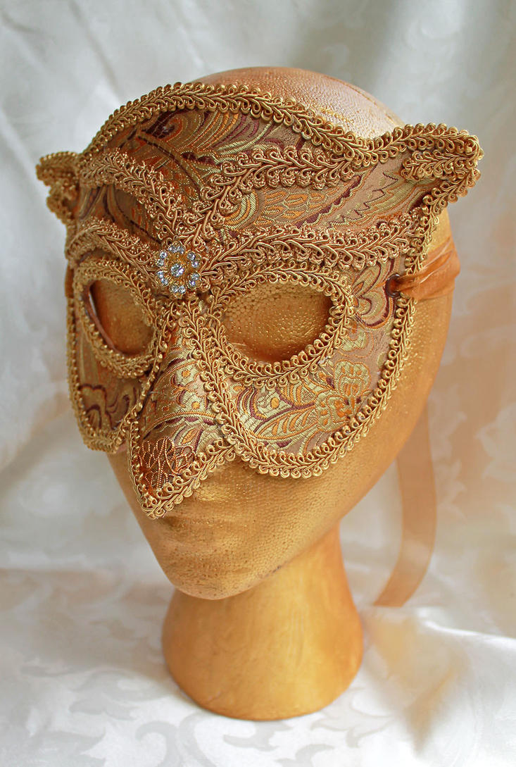 Golden Owl Mask by DaraGallery