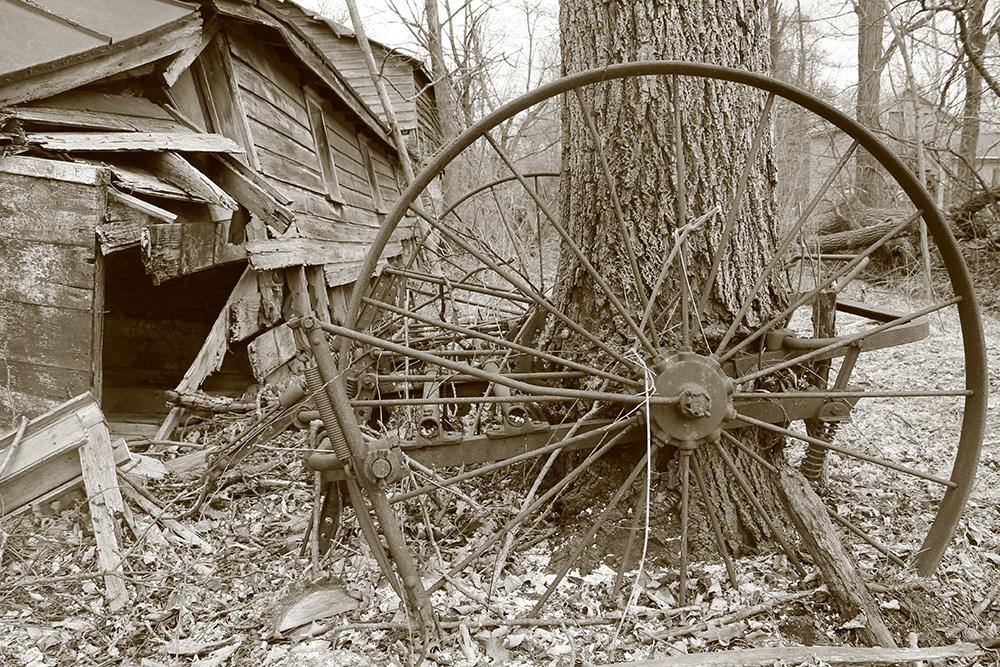 Old Wheel Barn Stock by DaraGallery