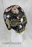 Jeweled Black Skull Mask by DaraGallery