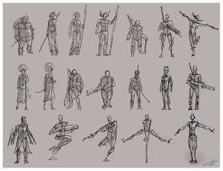 Sketch Characters by omerayar