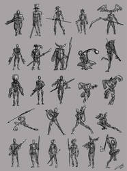 Sketch Characters 03 by omerayar