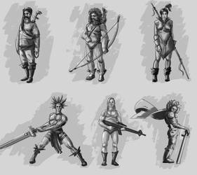 Sketch Characters 04 by omerayar