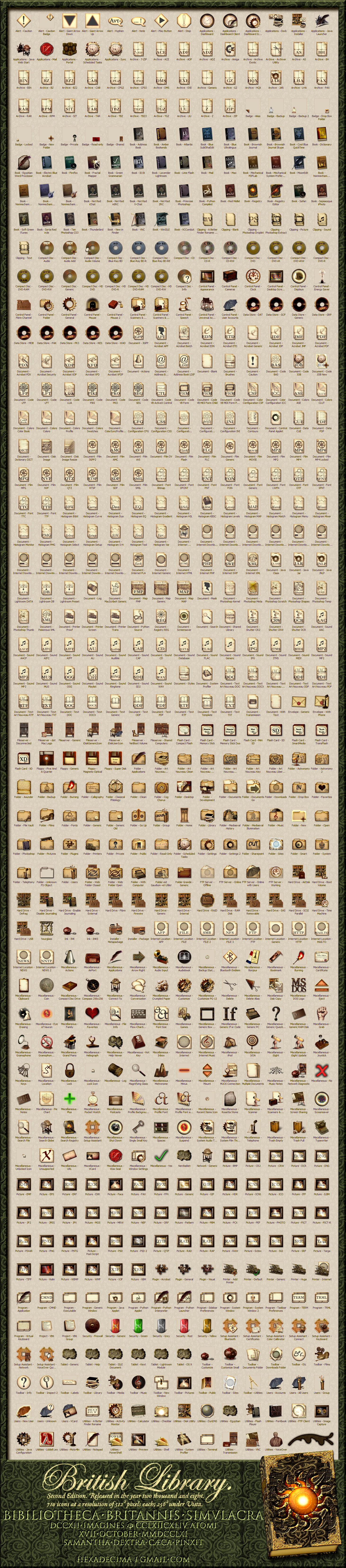 Library Icons Preview. 2nd Ed.
